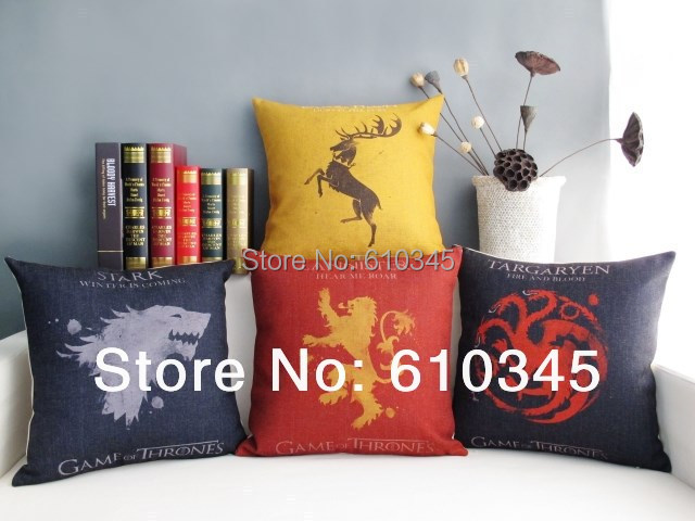freies verschiffen 45x45 cm game of thrones wohnkultur kissen bettw sche baumwolle kissen sofa. Black Bedroom Furniture Sets. Home Design Ideas