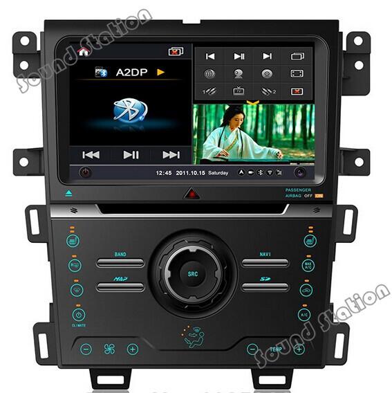 Edge DVD GPS Radio For Ford Edge 2013 2014 Car DVD GPS Navigation Multimedia Radio Bluetooth Monitor USB 3G Wifi TV Audio Video(China (Mainland))