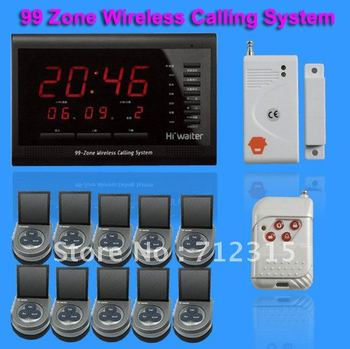 99 Zones LED Display Wireless Waiter Service Paging Call Calling System TSB-D01