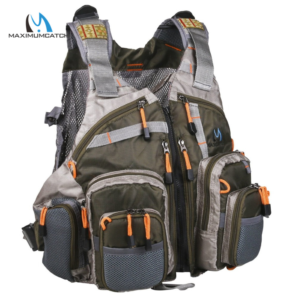 Maximumcatch adjustable fly fishing vest free size for Fly fishing backpack