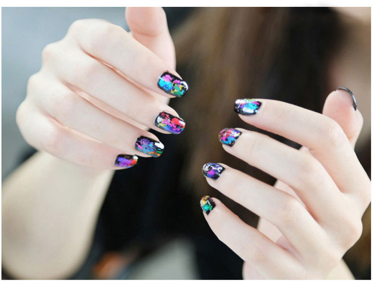 Factory direct Manicure stickers a starry starry cosmos Harajuku nail stickers stickers Manicure 49 new color