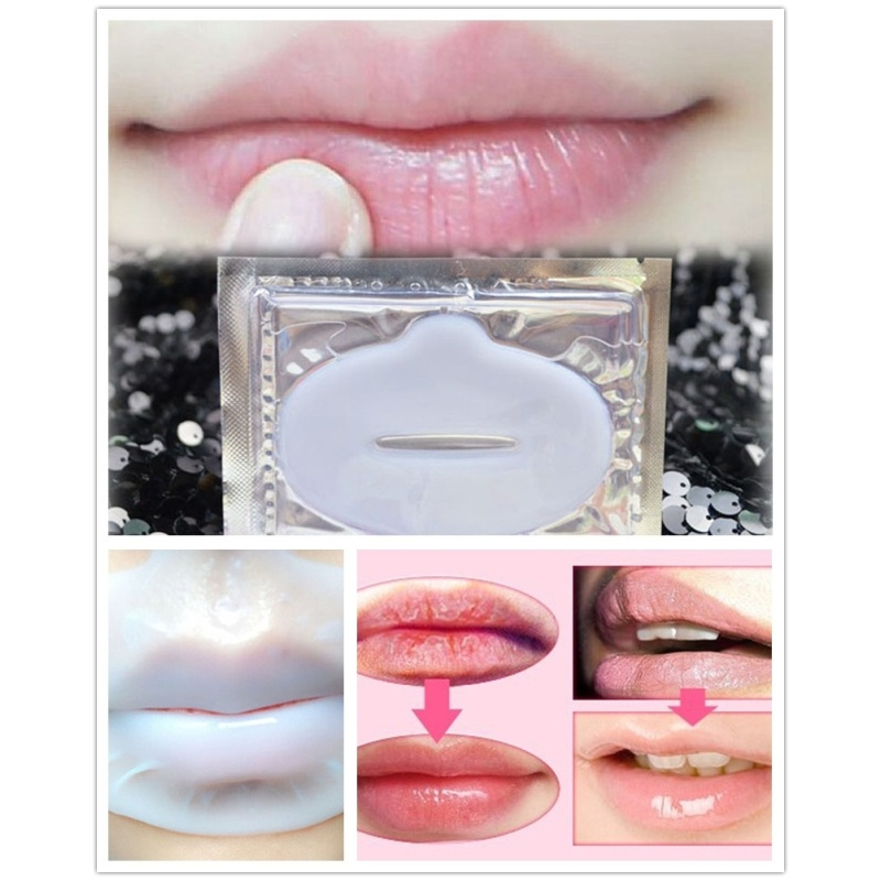 3 pcs New Hot Lip Plumper Crystal Gel Collagen lip Mask Pads Moisture Essence Anti Ageing fuller plumper Full Lips Enhancer Z4