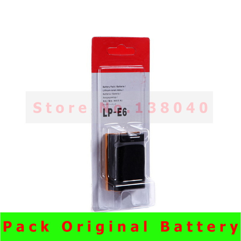 LP-E6 LP E6 LPE6 Rechargeable Camera Battery Pack For Canon 5D2 5D3 5D 7D 6D 40D 70D 60D 600D Mark II III 2 3 batteries(China (Mainland))