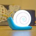 Night Light Decorative Lamp Lampe Bedroom Children Kids Baby USB Built in Battery Led Snail Kids