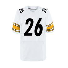 Men's #25 Artie Burns #43 Troy Polamalu jersey #7 Ben Roethlisberger #26 Bell White Black Elite jerseys 100% Stitched Logos(China (Mainland))