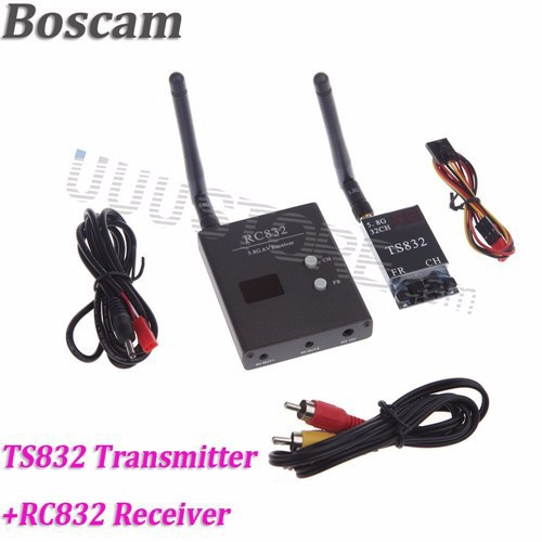 RC FPV Combo System boscam 5.8ghz 5.8G 600mw transmitter receiver No blue monitor SJ4000 Camera for walkera CX20 DJI Phantom QAV250 F450 3