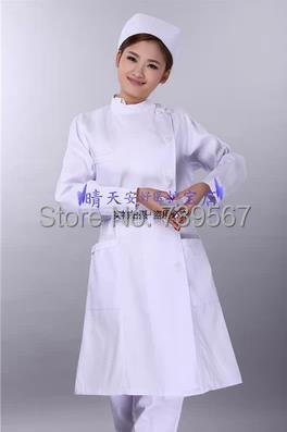uniformes hospital nursing scrubs medical clothing lab coat White/blue/doctor nurse overalls Medical/lwomen work wear blouses(China (Mainland))