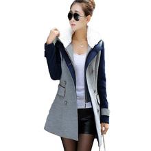 coats winter women2015 woollen coat button lapel jackets double-breasted korean winter coats for women full sleeve long coats(China (Mainland))
