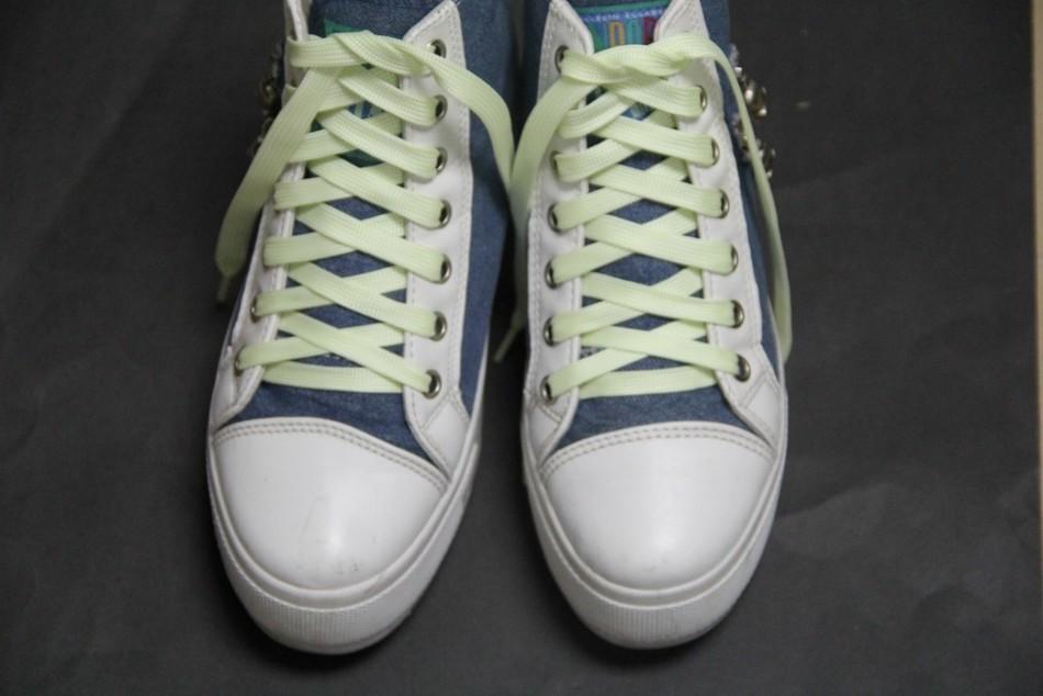 Fashion Luminous shoelace 5 Colors men women led shoes lace for sneakers canvas Casual Flats shoes 100cm
