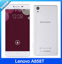 New Arrivals Original 5.0 Lenovo A858T MTK6732 Quad Core 64bit Mobile phone Android 4.4 1GB RAM 8GB ROM 8.0MP Camera
