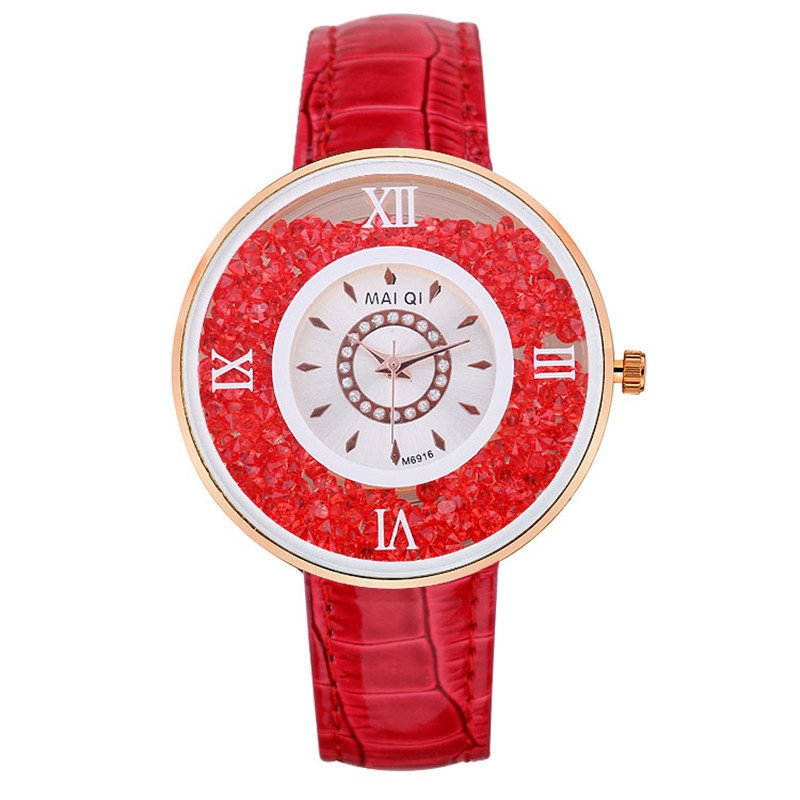 Women Dress Belt Quartz Watch 2015 Watches Fashion Luxury Unique inlaid Rhinestone fashion female form - Meaning even Mandy store