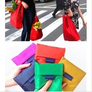 Free shipping 125pc/lot 2013 new fashion colorful Nylon foldable Shopping Bag 10 colors BG042<br><br>Aliexpress