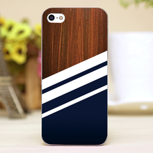 Wooden Navy Design Customized transparent case cover cell mobile phone cases for Apple iphone 4 4s 5 5c 5s hard shell