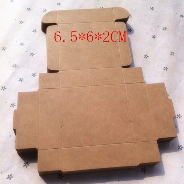 6.5*6*2cm Kraft Storage boxes Small jewelry tray Aircraft box Candy box Biscuit Cake Gift Packaging 100pcs/lot(China (Mainland))