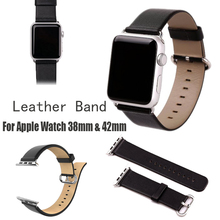 1:1 HOCO For Apple Watch Premium Classic Genuine Leather Soft Strap Original Pin Buckle Watchband With Adapter Connector
