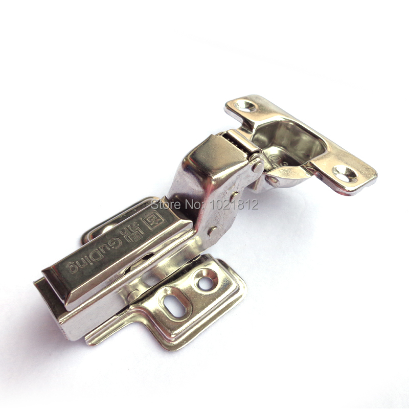 1 Pair Inset Hydraulic Cabinet Hinge 304 Stainless Steel Hinge Soft Close Brass Buffering Clip-on Base(China (Mainland))