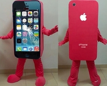 2014Hot sale Mascot Costume Cell Phone Apple iPhone 5C Adult Size()