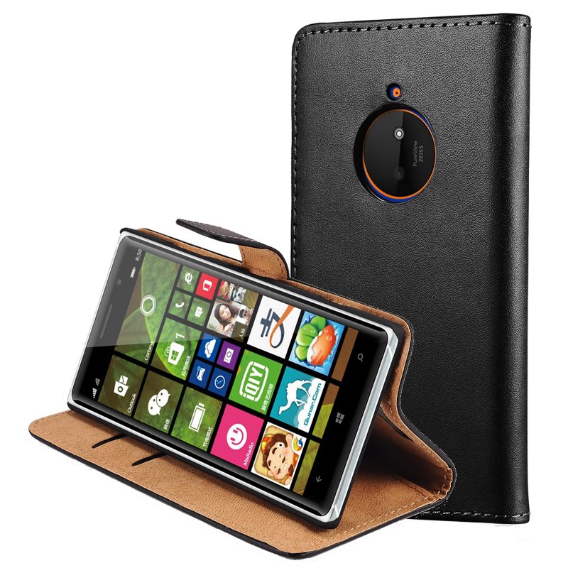 Luxury Genuine Leather Case For Nokia Lumia 830 Wallet Style Flip Stand Phone Back Cover With Card Slots For Nokia 830 Case(China (Mainland))