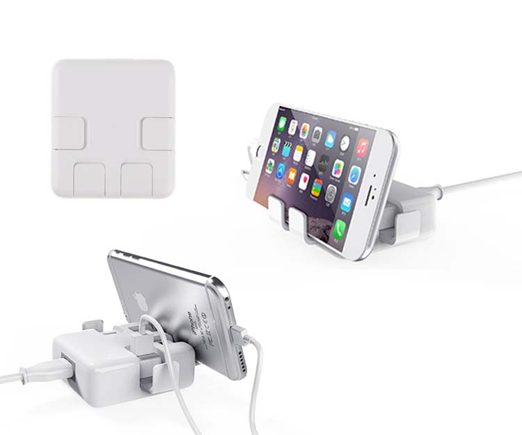 Cute 4 USB Ports Plug Power Adapter Dock Charger Holder for iPad Samsung Galaxy S6 Note 5 4 3 iPhone 6S 6 Plus LG HTC Nokia Sony(China (Mainland))
