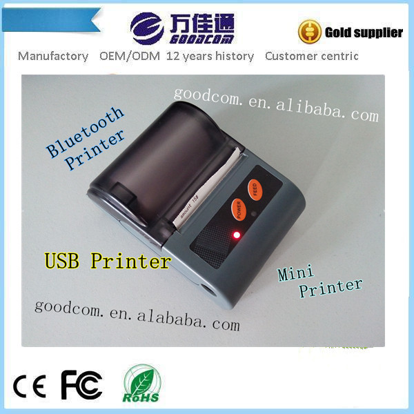 Thermal Mini Printer with USB Port to Connect with Computer and Bluetooth to Connect with Android Devices(China (Mainland))