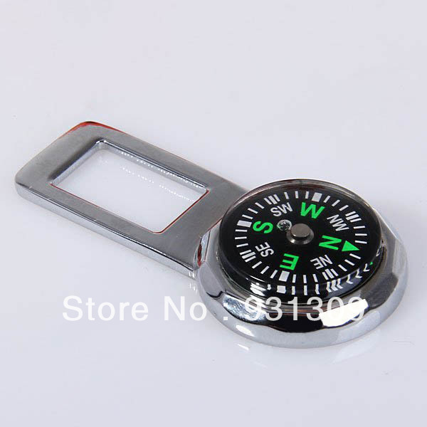 Compass Design Metal Car Safety Seat Belt Locking Buckle Clip Compasses-TBH(China (Mainland))