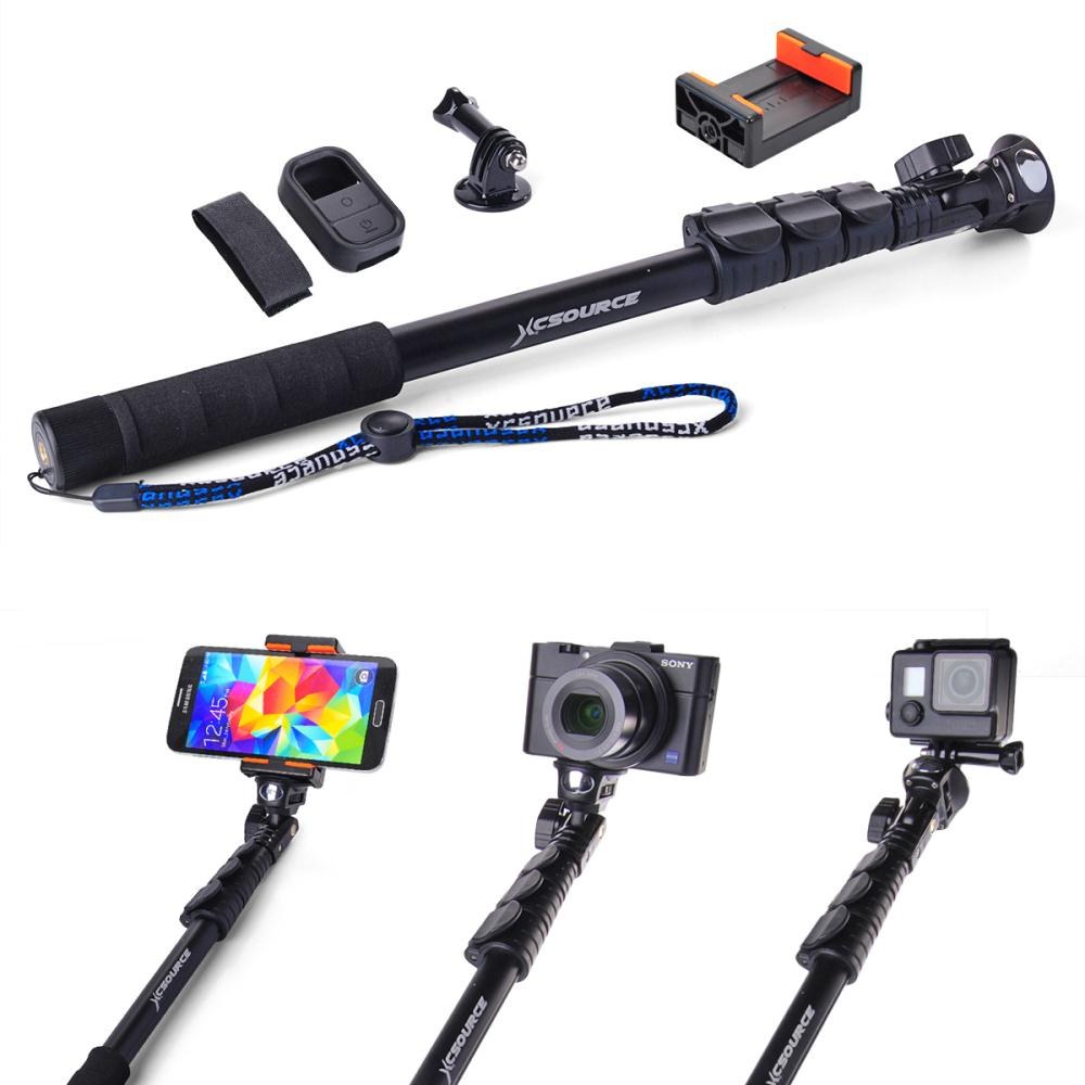 handheld monopod extendable selfie stick clip holder wifi remote case for. Black Bedroom Furniture Sets. Home Design Ideas