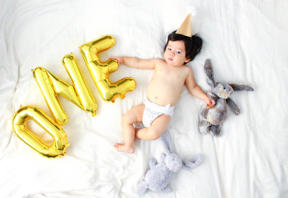cheap 3pcs/bag number one balloons party decoration wedding birthday foil gold number silver balloons Baby shower decoration(China (Mainland))