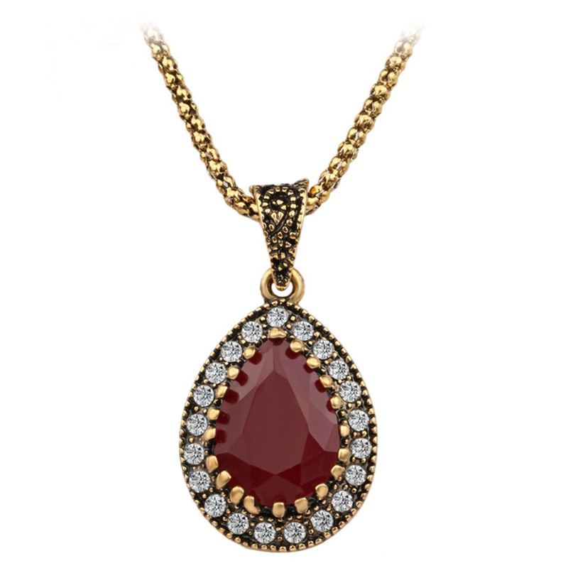 From Indian Love Turquoise 2016 New Vintage Necklace Women Fashion Style Necklaces & Pendants Cheap Wedding Necklace(China (Mainland))