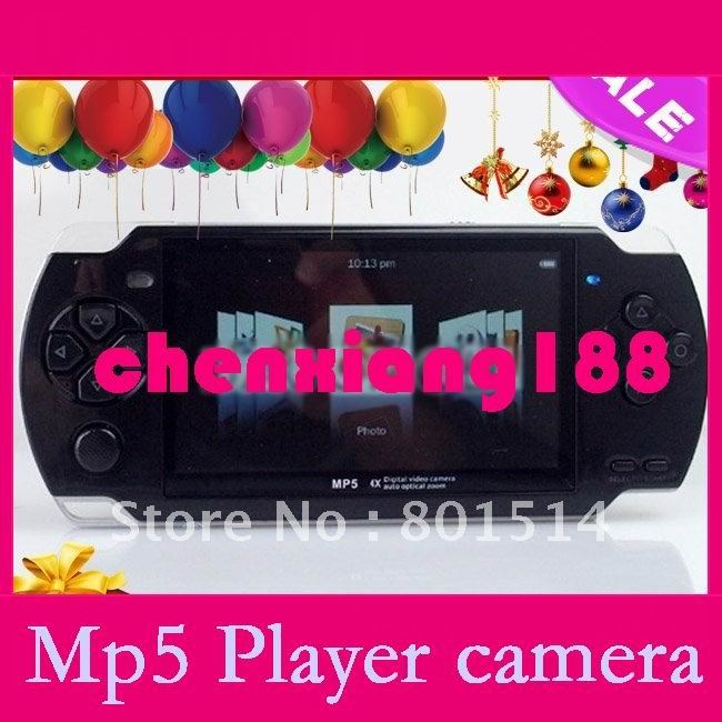 "Consumer Electronics Portable Audio & Video 4.3"" Game Player MP4 player with FM camera TV-OUT 4GB 10pcs/lot Free Shipping(China (Mainland))"