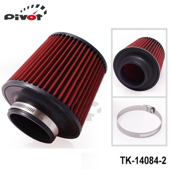 """PIVOT - Air Filter 3"""" 76mm Air Intake Filter Height High Flow Cone Cold Air Intake Performance TK-14084-2"""