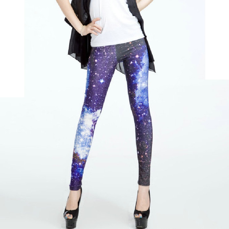 Plus Size Summer Leggings 2016 Women Hot Sale Leggings 3D Digital Space Printed Sexy Workout Clothes Fitness Pants LG085(China (Mainland))