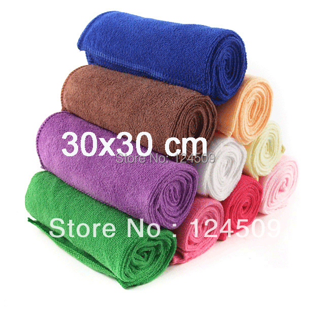 Free shipping extra thick microfiber cleaning cloth 30x30 cm 360gsm(China (Mainland))