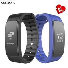 Buy SCOMAS I3 HR Smart band 0.96 inch touch screen heart rate monitor Smart Wristband intelligent Sports management smart bracelet for $23.79 in AliExpress store