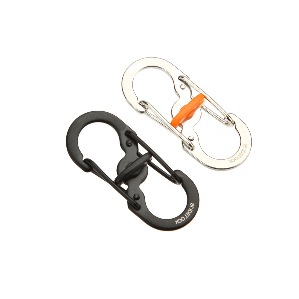 Outdoor Camping Equipment Stainless Steel 8-Shape Buckle Snap Clip Climbing Carabiner Backpack Anti-theft Hanging Keychain(China (Mainland))