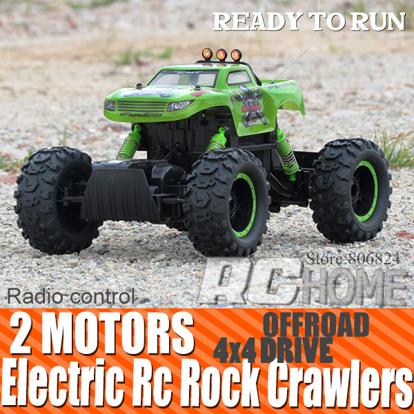 Electric 4WD Off Road Rc Rock Crawler 4x4 wheel drive toy car electric 4x4 offroad radio controlled car for toys with color box(China (Mainland))