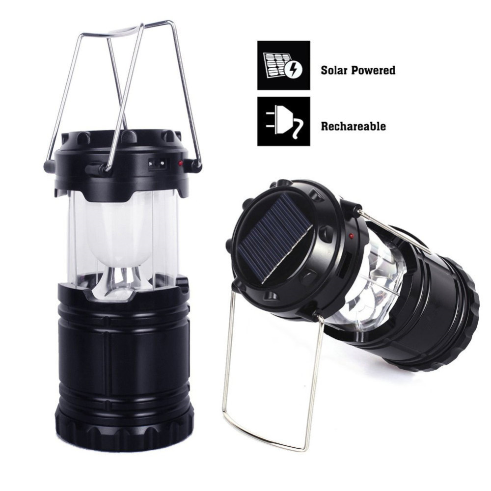LED Hand Portable Lamp Collapsible Solar Camping Lantern Tent Light for Hiking Camping Emergencies Hurricanes Outdoor Lighting(China (Mainland))