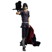 2015 Anime Naruto GEM Kiba real man Kaleidoscope write round eye crow Uchiha Itachi Action figures for For children brinquedos
