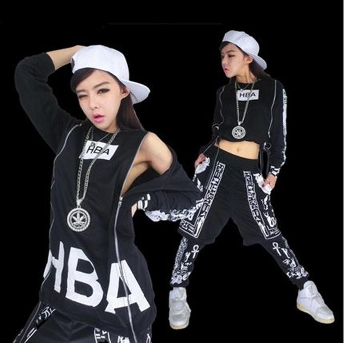 Loose jazz dance clothes female hiphop hip-hop clothes set ds costumeОдежда и ак�е��уары<br><br><br>Aliexpress