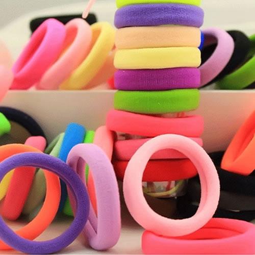 Women Seamless High Elastic Hair Ring Tousheng Towel Ponytail Rubber Band Hair Accessories Variety Of Colors Randomly Send(China (Mainland))