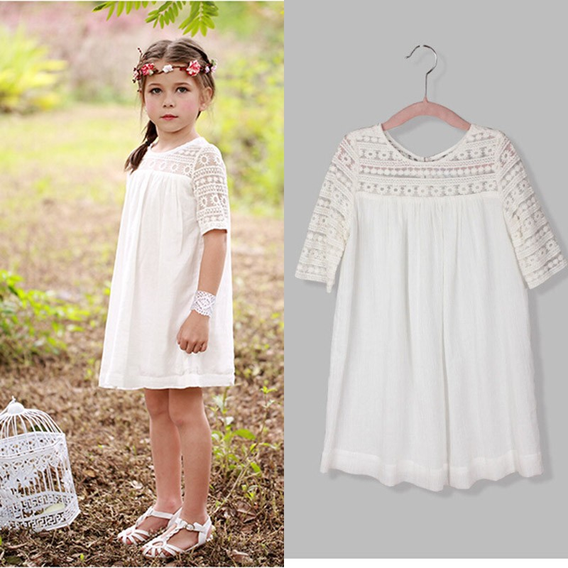 White summer dresses for kids