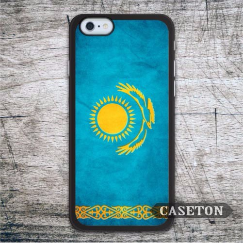 Flag Kazakhstan Case For iPhone 7 6 6s Plus 5 5s SE 5c 4 4s and For iPod 5 Vintage Classic Ultra Phone Cover