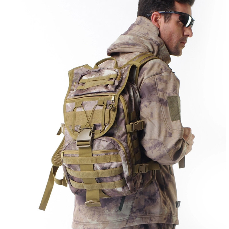 Military Tactical Backpack swordfish MOLLE System Unisex camo mountaineering package Multifunctional Computer Bag Nylon Fabric(China (Mainland))