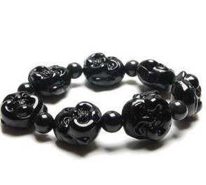 Wholesale Natural Black Stone Bracelets Wholesale Carve BalckJade For Men and Women fashion jade jewelry<br><br>Aliexpress