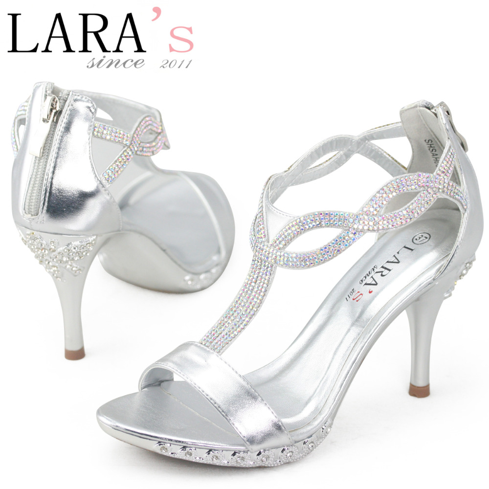 Ladies Silver Heels - Is Heel