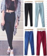 2015 fashion American brand jeans woman pencil casual denim stretch skinny high waist jeans pants women Plus size(China (Mainland))