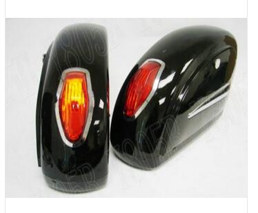 Universal Motorcycle Touring Cruiser Hard Saddlebags Trunk Lights Luggage w/ Mounting For Kawasaki Vulcan Classic VN 400 VN500(China (Mainland))