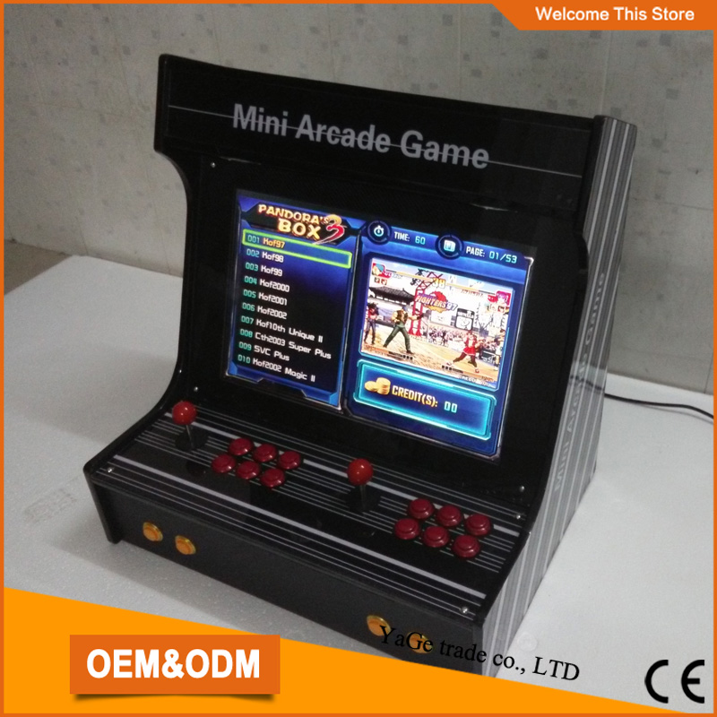 22  LCD Mini table top arcade with Classical games 520 In 1 PCB/mini arcade game machine<br><br>Aliexpress