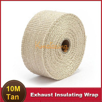 10M Car Racing Engine Pipe Exhaust Insulating Wrap Auto 4X4 Motorcycle 2000 Fahrenheit Fireproof Super Cool Cloth Header Wrap
