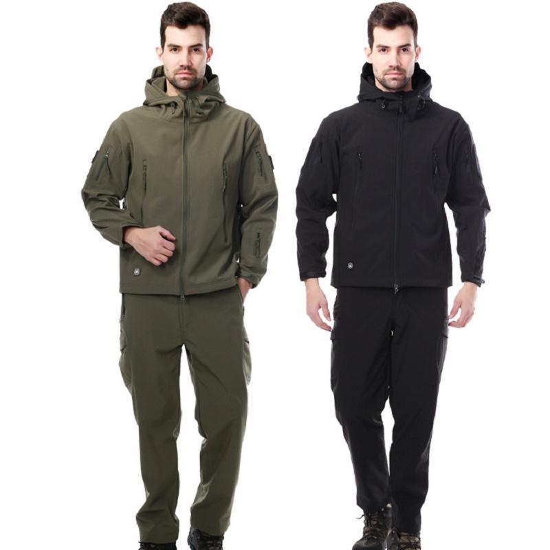 Good quality 3 color sale shark skin soft Outdoor Jacket RainCoat Men Jacket Rain and warm Sports Jacket Waterproof Rain Coat(China (Mainland))