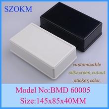 1 piece Black color abs material small electrical enclosure nema plastic enclosure 145x85x40 mm (China (Mainland))